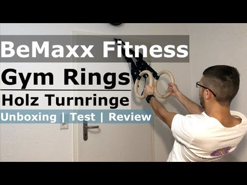 BeMaxx Fitness Gym Rings / Turnringe aus Holz im Unboxing / Test / Review