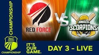 T&T Red Force v Jamaica   West Indies Championship - Day 3   Saturday 16th March 2019