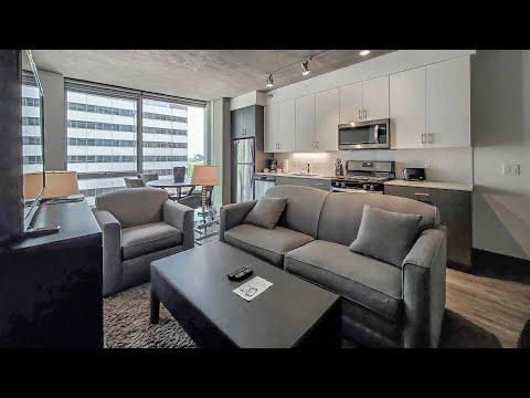 A furnished short-term -09 1-bedroom  at the Loop's new Parkline Chicago