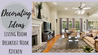 Decorating Ideas | Living Room + Breakfast Nook | Glam Farmhouse | Easy Makeover On A Budget