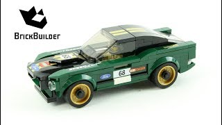 Lego Speed Champions 75884 1968 Ford Mustang Fastback  - Lego Speed build