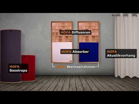Akustikelemente von HOFA-Akustik