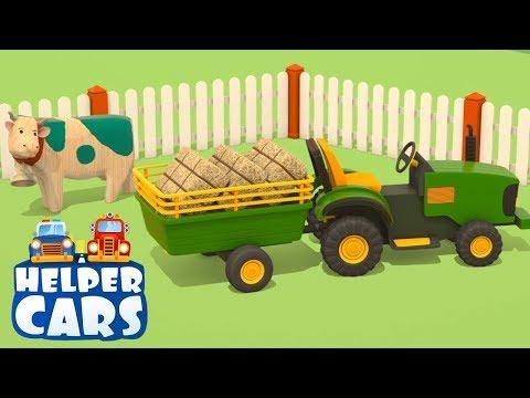Cartoni animati per bambini: Helper cars - I veicoli da lavoro e la fattoria