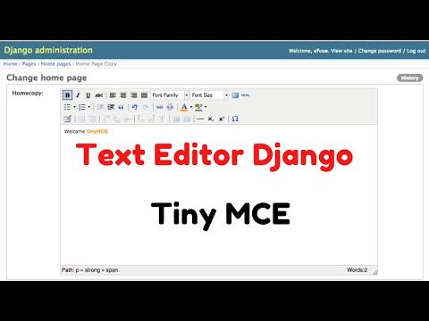 How to Use Tiny MCE editor in Django - Text Editor thumbnail