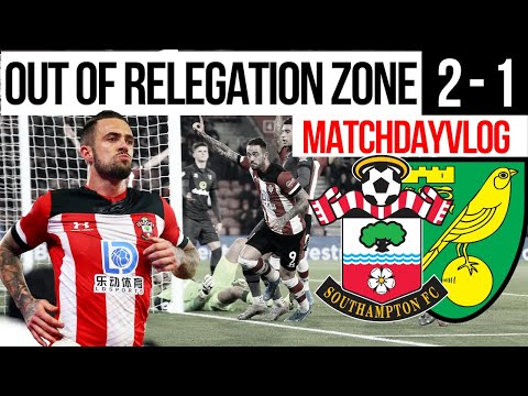 OUT OF RELEGATION ZONE | SOUTHAMPTON 2 - 1 NORWICH CITY | FULL MatchDayVlog - Wed 4th December 2019