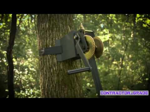 Ladder Tree Stand Installation Hoist System Easily