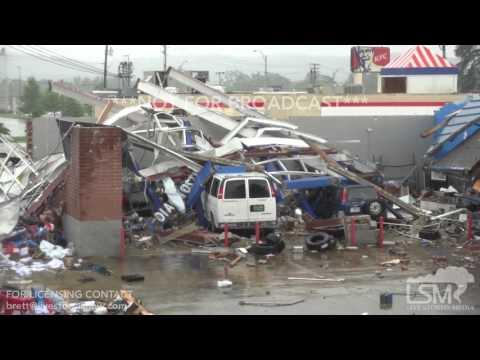 6-22-17 Fairfield, Alabama Tornado Damage - Structures Destroyed