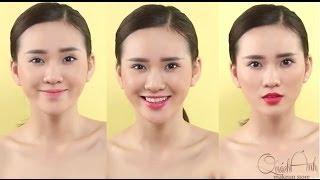 preview picture of video '[QUÁCH ÁNH MAKEUP] 3 phong cách môi khác nhau chỉ với 1 tone màu son'
