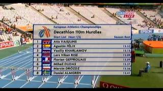 European 2010- Decathlon 100m and 110m hurdles