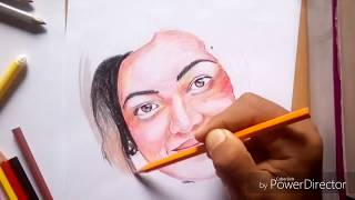 preview picture of video 'Time lapse drawing kajal Agarwal'