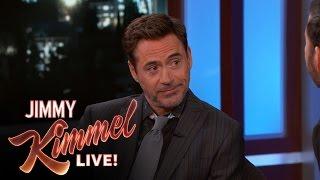 """Robert Downey Jr. Says Chris Evans Was Nervous at the """"Civil War"""" Premiere"""