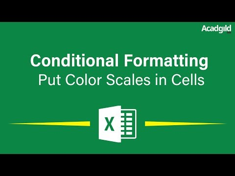 How to Use Color Scale in Excel Cells using Conditional Formatting | Excel Conditional Formatting