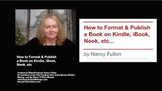 How to Publish a Book on Amazon Kindle, Apple iBook, Barnes & Noble Nook