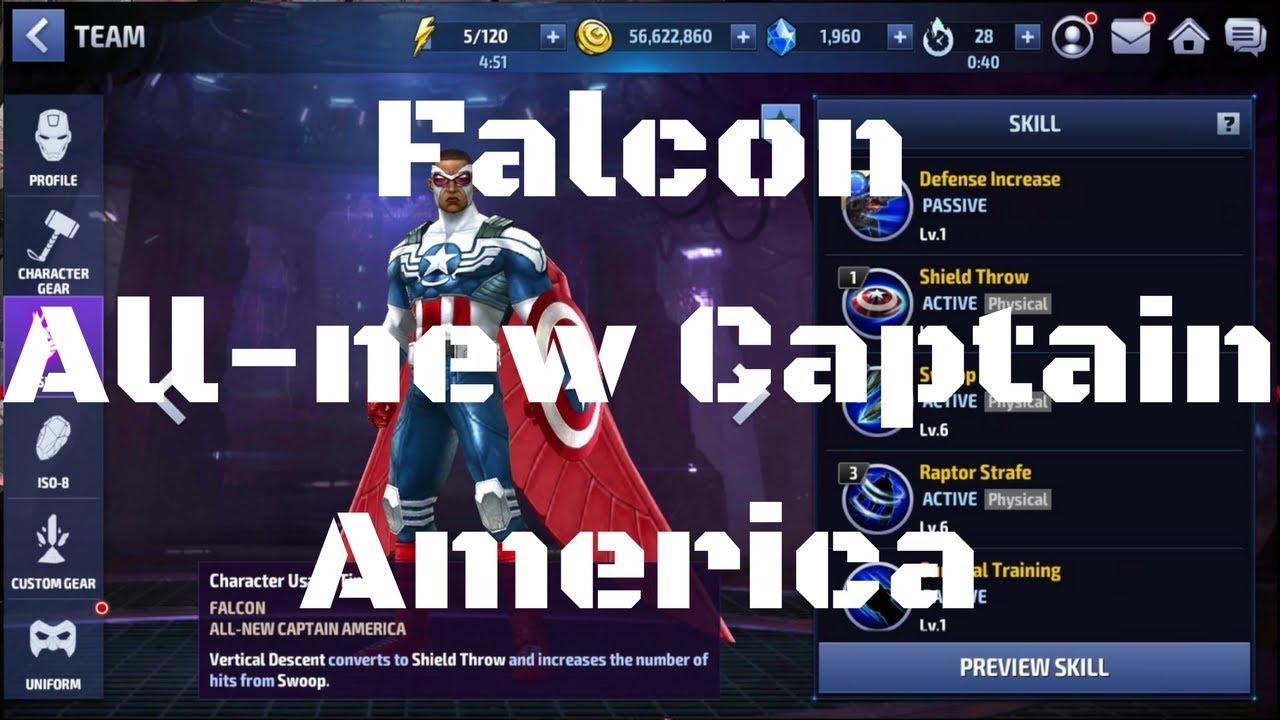 รีวิว Falcon ยู All-new Captain America