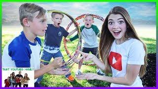 Hula Hoop Hop ROCK PAPER SCiSSORS War Train - PLAYGROUND WARS / That YouTub3 Family