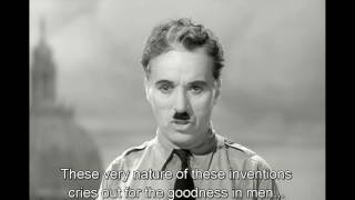 Revolutionary speech of Charlie Chaplin in The great dictator