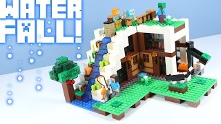 LEGO Minecraft The Waterfall Base 21134 with Cat & Dyed Sheep!