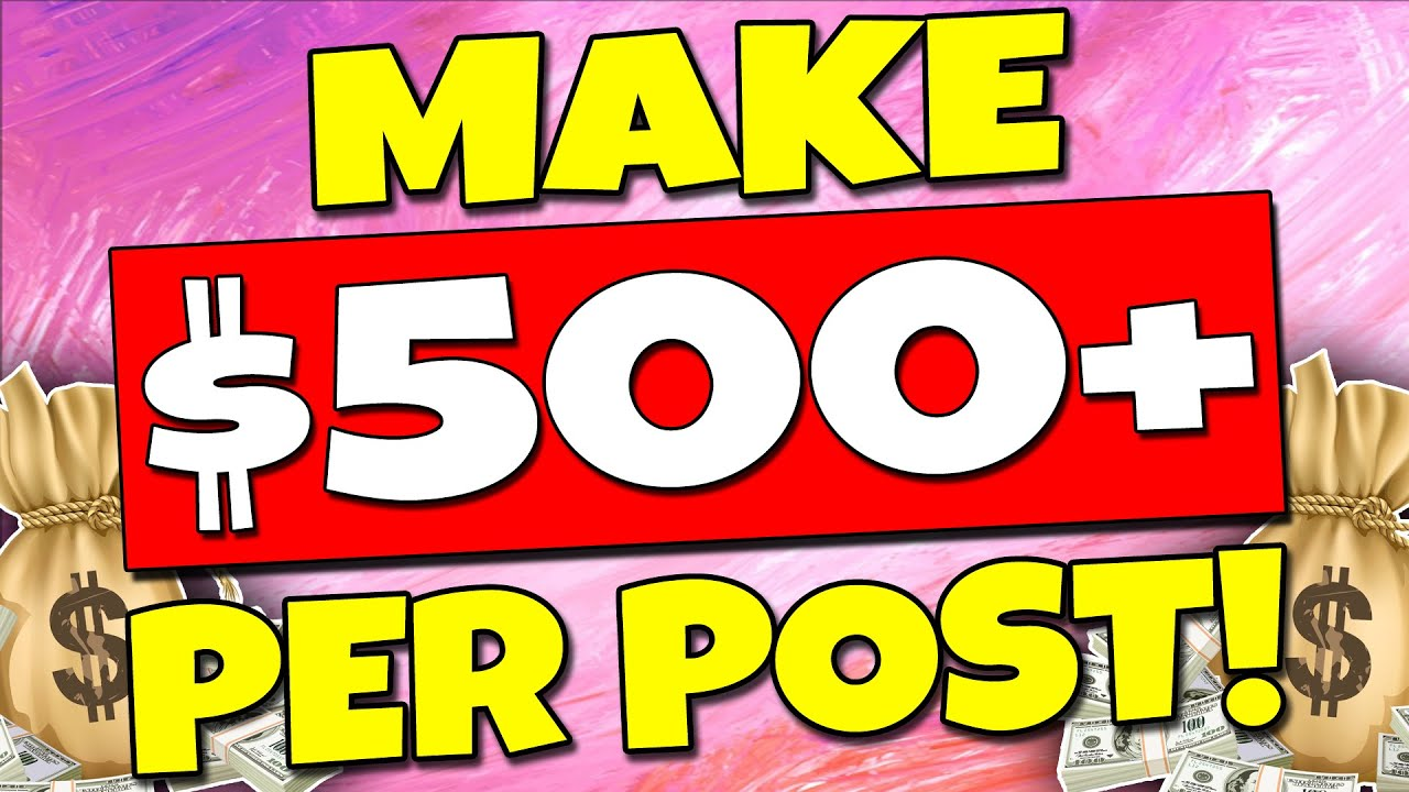 Make $500+ PER POST🔥 Easy WAY To MAKE MONEY ONLINE💰 (Full Tutorial) thumbnail