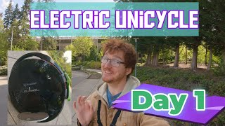 Learning How to Ride an Inmotion V8 : Electric Unicycle, Day 1
