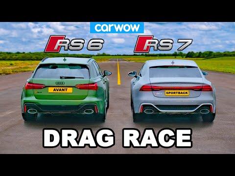 Audi RS7 vs RS6 - DRAG RACE