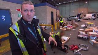 UK Customs Agents Search for Drugs