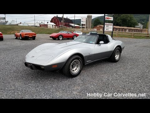 1978 Silver Anniversary Corvette Blue Int For Sale Classic Vette Video