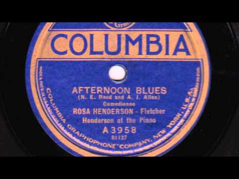 Afternoon Blues [10 inch] - Rosa Henderson (with Fletcher Henderson) online metal music video by ROSA HENDERSON