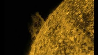 Solar Plasma Shoots Thousands Of Miles Into Space