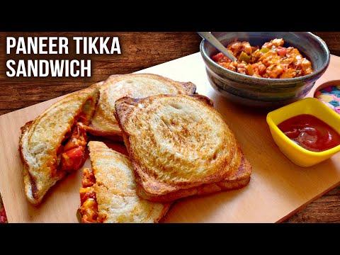 Paneer Tikka Sandwich Recipe   How To Make Paneer Tikka Sandwich   Simple Bombay Style Toast   Varun