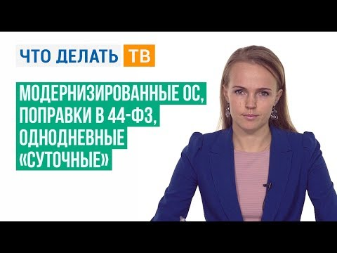Модернизированные ОС, поправки в 44-ФЗ, однодневные «суточные»