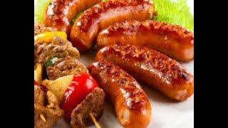 Гриль ассорти из овощей, куриных крылышек, колбасок  Самые лучшие рецепты. блюда к праздникам.