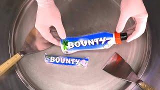 Bounty Chocolate Bar Ice Cream Rolls   how to make Chocolate and Coconut Ice Cream - satisfying ASMR