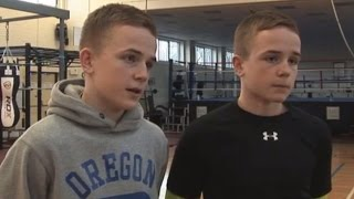 Boxing twins refuse to trade blows