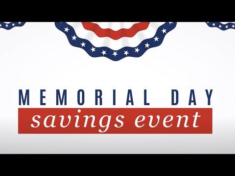 Memorial Day Savings Event