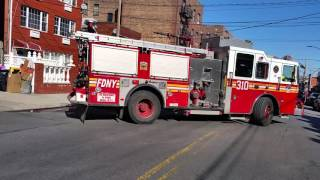 FDNY Engine 310 and Ladder 174 respond to Box 2121