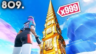 WORLD RECORD CHEST TOWER! - Fortnite Funny WTF Fails and Daily Best Moments Ep. 809