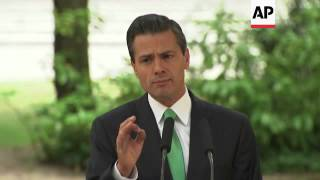 Mexican president visits Spain, holds joint news conference with Rajoy