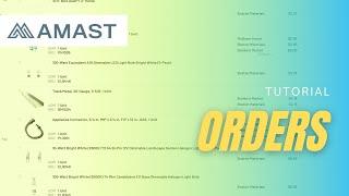 Navigate AMAST's Order Page