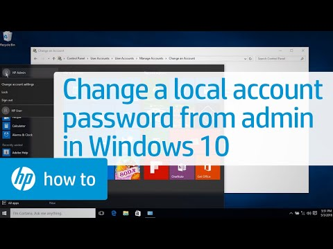 Changing a Local Account Password from an Administrator Account in Windows 10   HP Computers   HP