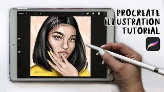 PROCREATE ILLUSTRATION TUTORIAL- How To Make A Digital Drawing