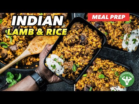 Meal Prep – Indian Lamb & Cauliflower Rice Recipe