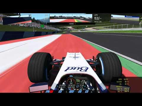 F1 WILLIAMS - RED BULL RING - RFACTOR  - игровое видео