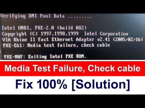 media test failure