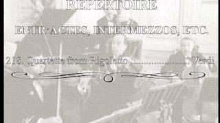 White Star Line Music 218.- Quartette from Rigoletto