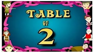 Learn Multiplication Table Of Two   2 x 1 = 2  2 Times Tables  Fun & Learn Video for Kids