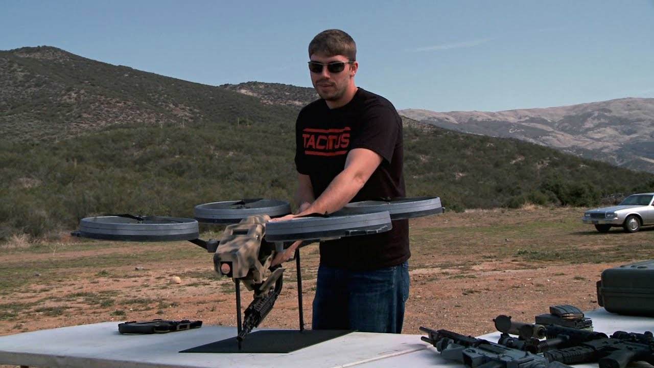 This Quadrotor Flying Machine Gun Will Kick Serious Arse Some Day