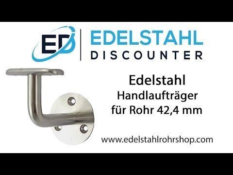 Edelstahl Handlauftraeger für Rohr 42,4 mm
