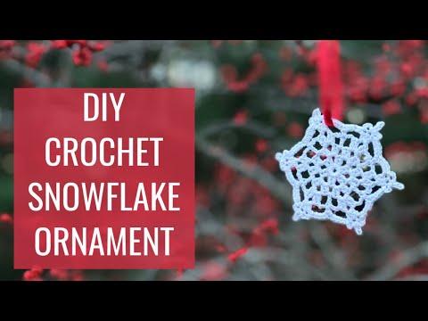 DIY Crochet Snowflake Ornament // How To Crochet a Snowflake // Christmas Tree Ornament Tutorial