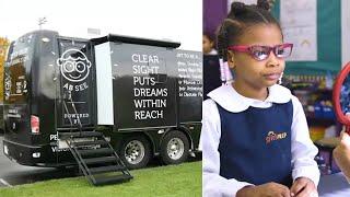 Pearle Vision Mobile Eye Center Provides Eye Care For Kids