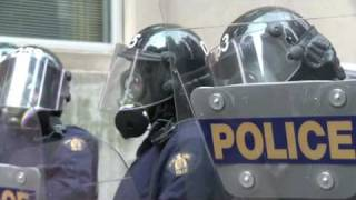 Press for Truth  RAW G20 coverage - Police Barricades